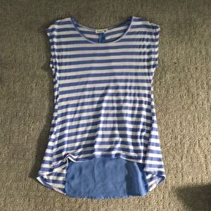 Tops - Stripped shirt see through back